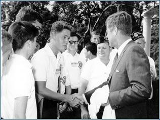 Bill Clinton and JFK