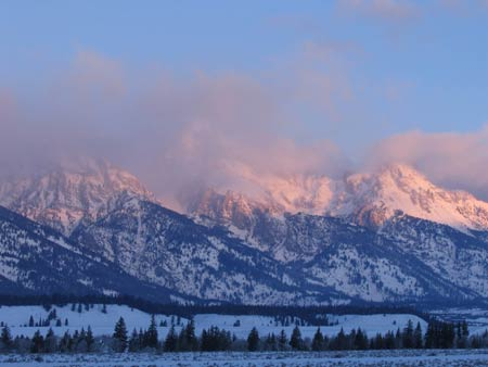 Sunrise: Grand Tetons