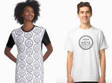 Black-White-Vote-t-shirt-dress-sticker