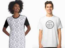 Black-White-Vote-t-shirt-dress-sticker